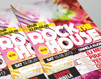 Rock the house -poster & flyer