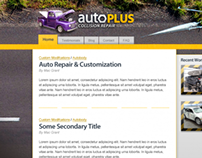 Auto plus collision center web site concept