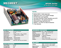 Datsheet Design for MegMeet - A Power Supply Factory
