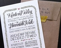Keaton & Hannah Wedding Invites