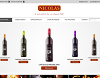 Nicolas Wine (website design)
