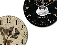 Clock Designs with Printed Motifs