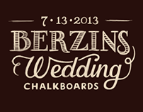 Berzins Wedding Chalkboards