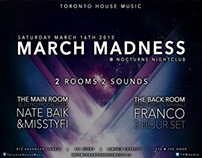 Toronto House Music- March Madness Flyer
