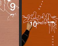Graffiti Calendar for Adidas