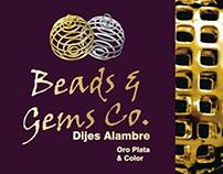 Beads& Gems Internal Catalogue wire pendants.