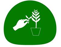 Señalética de reproducción de plantas