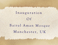 New Mosque Opened by World Muslim Leader in Manchester