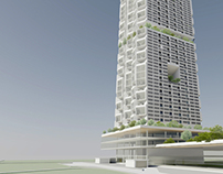 High-rise apartment complex