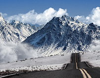 road to mountains