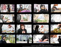 Riyadh Bank Storyboard Sketches