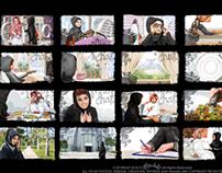 Riyadh Bank Storyboard Sketches
