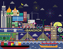 Bangkok City Illustration for Antalis(Thailand)Limited