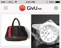 GivU App Interface Design