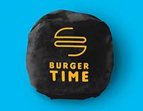 Burger time logo concept