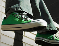Converse Ad photography