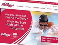 Kellogg's Olympic landing page