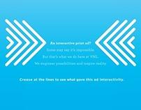 VML self-promotional print ad