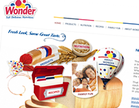 Wonder Bread website redesign