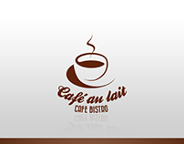 Retro Cafe Bistro Logo Template PSD