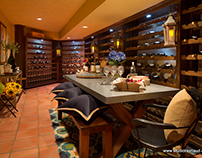 Global Wine Room at the 2013 PVI Decorator Showhouse