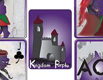 Kingdom Purple Playing Cards