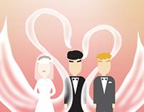 The Wedding Banquet film title design
