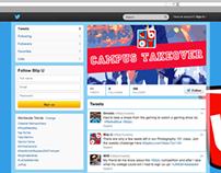 """Blip University"" Site/Social Media Mocks"