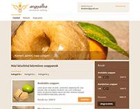 Angyalka logo and webdesign