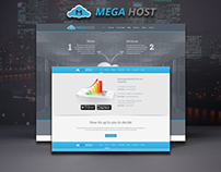 Mega - Hosting, Software Promotion PSD