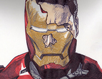 Iron Man Drawing
