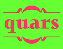 Quars, crystal clear typeface