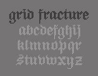 Grid Fracture Font