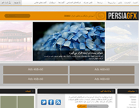 PersiaGFX webiste redesign consept UI