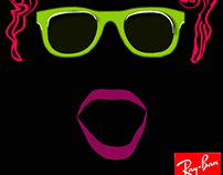 Print ads for Ray Ban