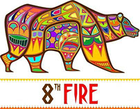 8th Fire Aborigin Bear Icon Design
