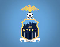 New York City Football Club (NYCFC) Soccer Team Mockup
