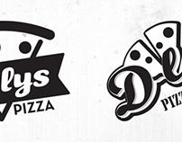 Pizza D-lys logo design