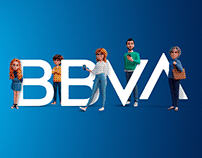 BBVA Personajes 3D