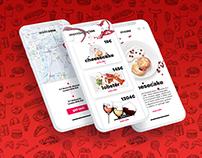 Интерфейс приложения для ресторана