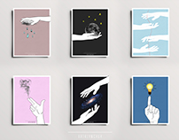 Post Cards project ''Hands can talk''