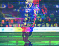 Glitch Design Neymar/Mmbape