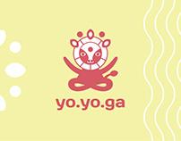 Логотип для студии аэройоги yo.yo.ga