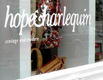 hope&harlequin - Logo design and shop front