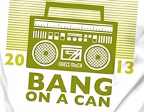 """Bang on a Can"" at MASS MoCA T-shirt Designs"