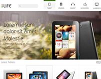 Tablets website Template Design