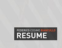 Federico Cosimo Biancullo | Resume 2013
