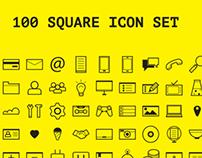 100 Square / Icons set