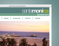 Santa Monica Email Newsletter Template