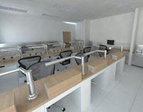 Dental laboratory interior